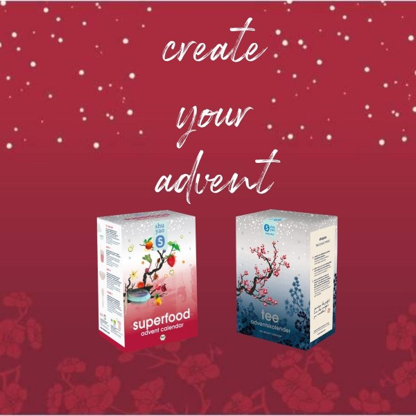 create your advent - superfood oder tee box