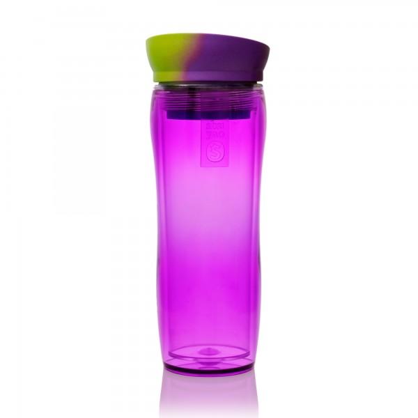 shuyao funky teamaker tea to go - teebereiter in violett mit deckel grün/violett made in germany