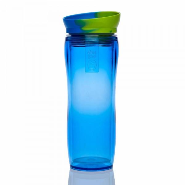 shuyao funky teamaker tea to go - teebereiter in blau mit deckel grün/blau made in germany