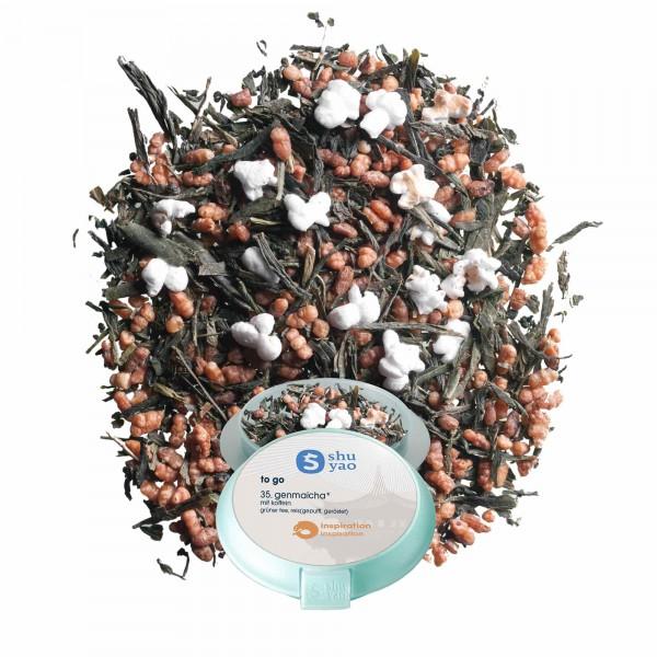 35. genmaicha tee in tagesdose einzeln recyclebar