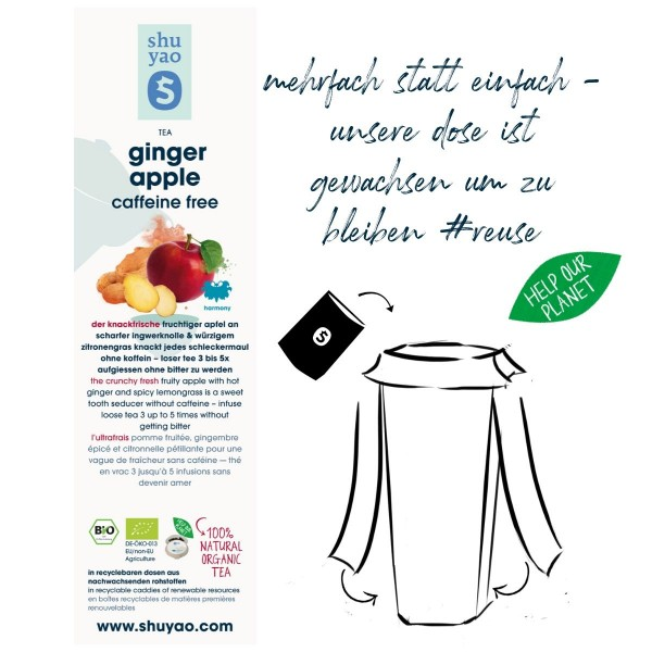 ginger apple sticker