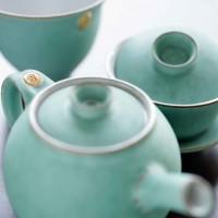 pottery teaware set mit 2 gaiwantassen 125 ml