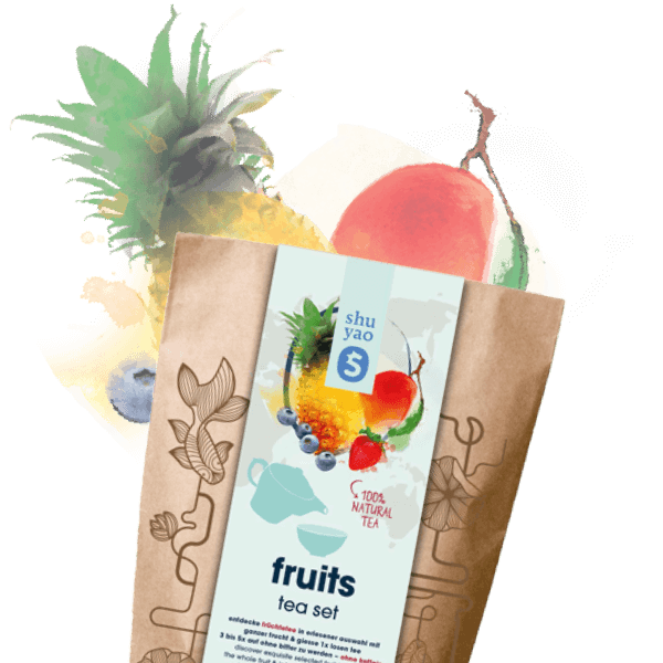 früchte tee set mit echten früchten