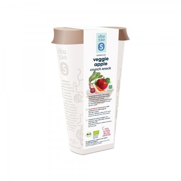 178. veggie apple crunch snack bio superfood in recyclebarer dose