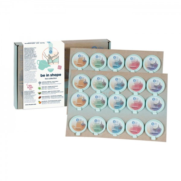 shuyao be in shape tea set- detox tee in geschenkbox mit tee in tagesdosen recyclebar