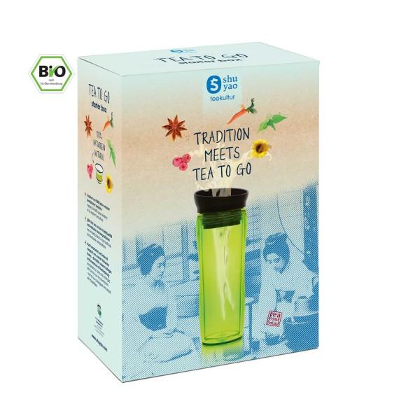 shuyao starter box tea to go - topseller tee mit teebereiter und tee in tagesdosen recyclebar
