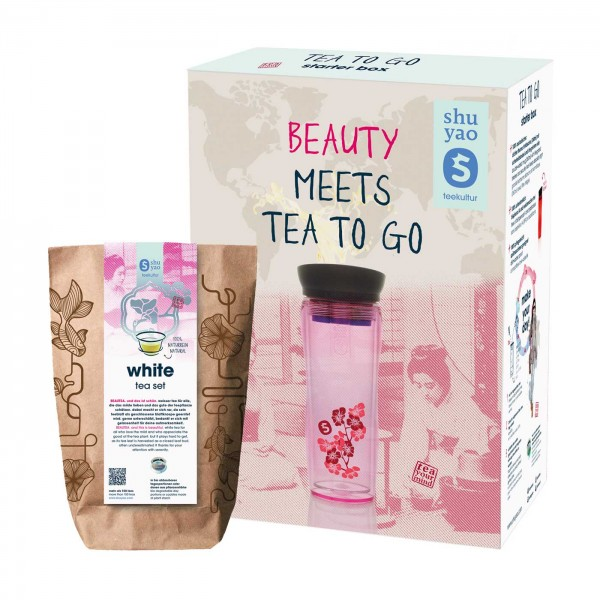 shuyao beauty box tea to go - beauty tee to go mit teebereiter und tee in tagesdosen recyclebar