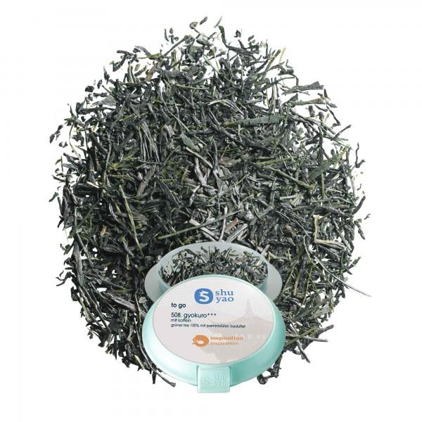 508. gyokuro tee in tagesdose einzeln recyclebar