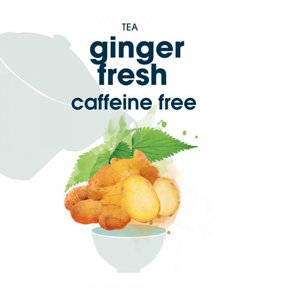 124. ginger fresh tee in blattqualität