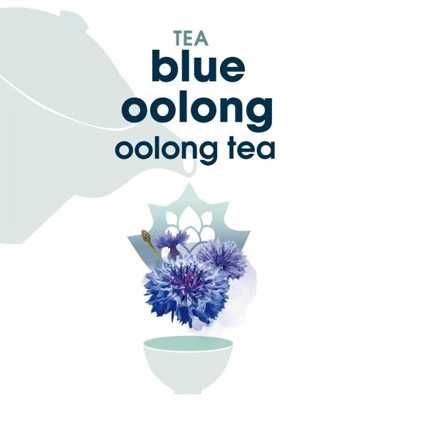 120. blue oolong  tee in blattqualität