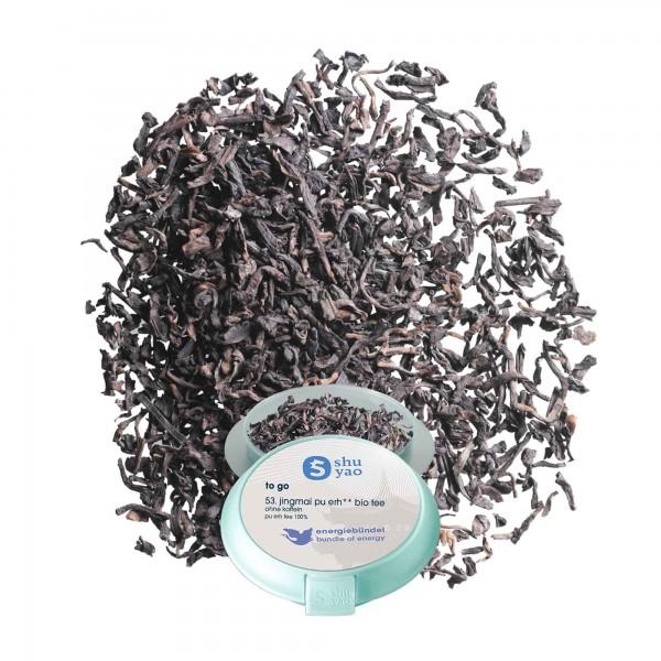 53. bio jingmai pu erh tee in tagesdose einzeln recyclebar