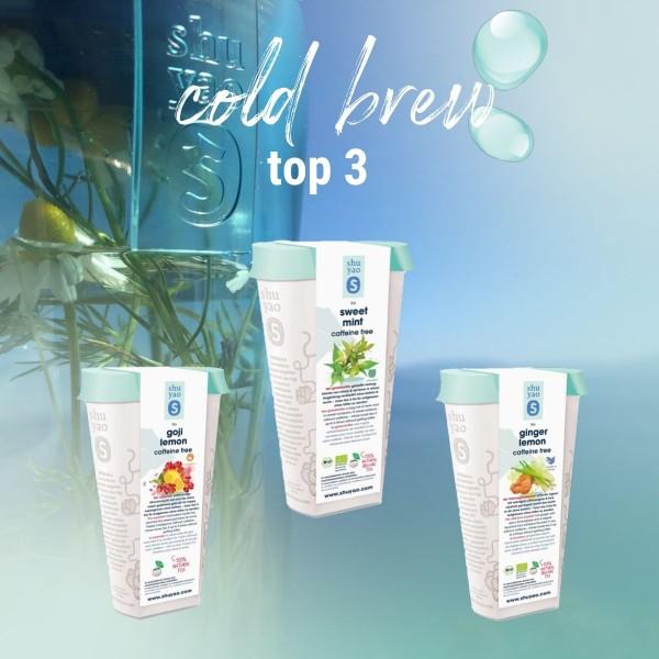 shuyao cold brew tea selection - top 3 cold brew tees in recyclebaren hohen refill dosen