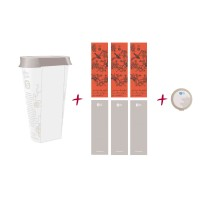 orange china refill caddy - recyclebare refill dose inklusive 3 aufkleber