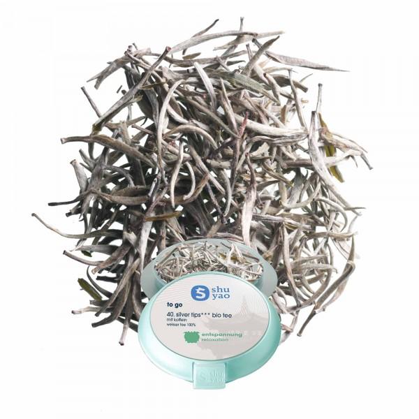 40. silver tips bio tee in tagesdose einzeln recyclebar