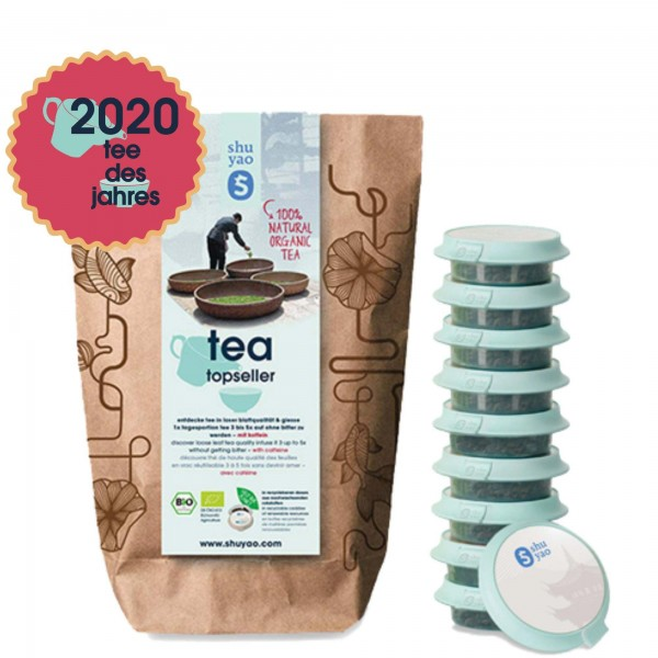shuyao tea of the year selection- tee set in recyclebaren tagesdosen und naturreiner blattqualität