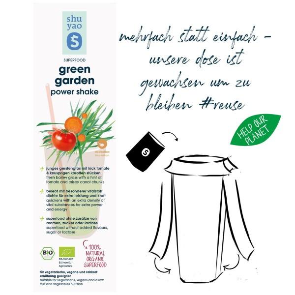 green garden shake sticker