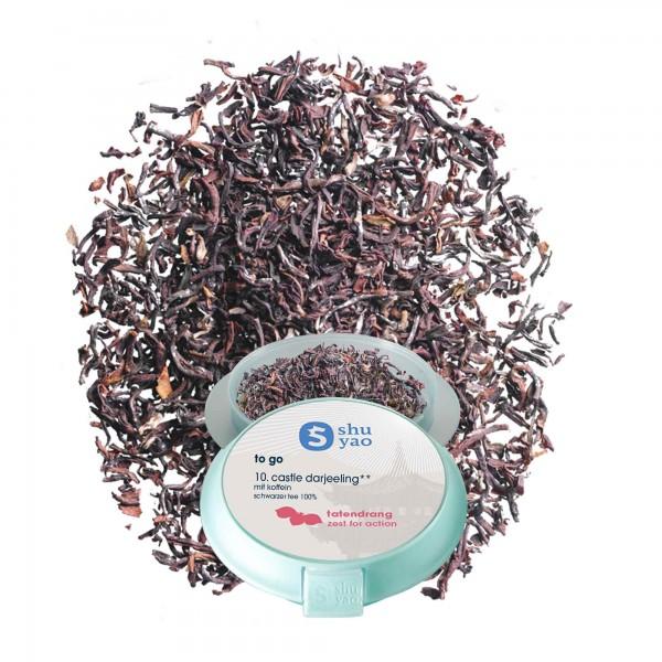 10. castle darjeeling tee verpackt in kunststoff aus zuckerrohr