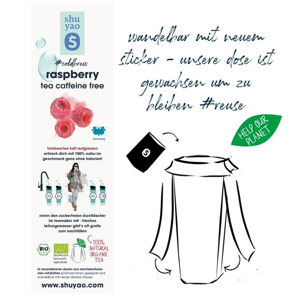 raspberry coldbrew sticker