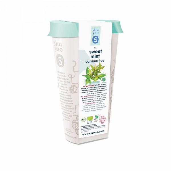 133. sweet bio mint tea in recyclebarer dose