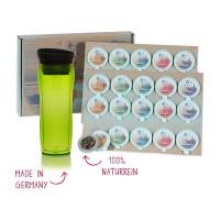 shuyao tealover to go set -  tee mit teebereiter in grün in recyclebarer geschenkbox