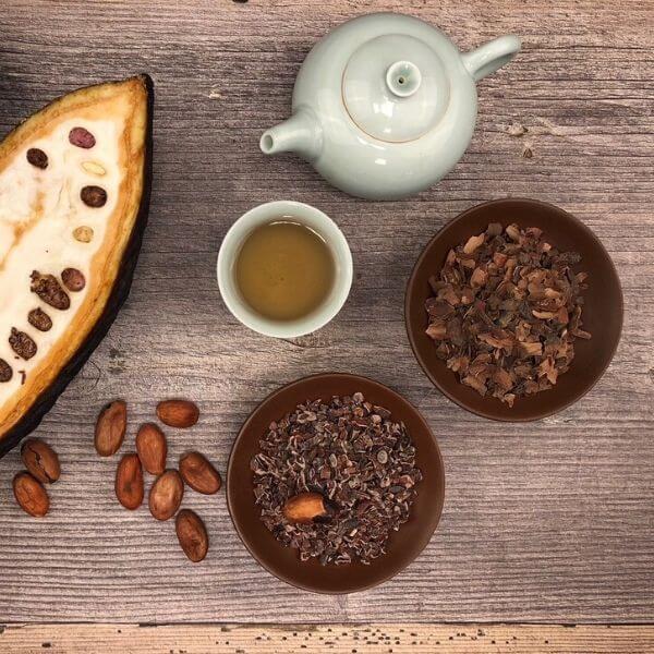 kakaobohne mit früchten
