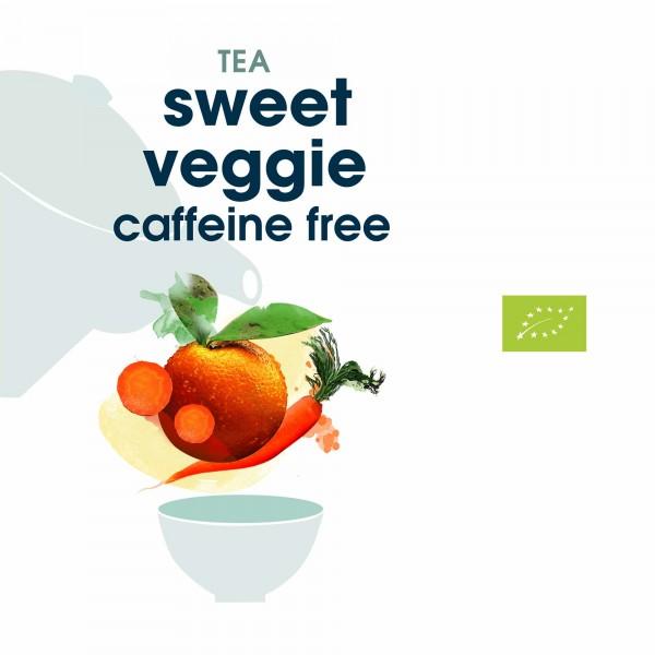 156. sweet veggie bio tee in blattqualität