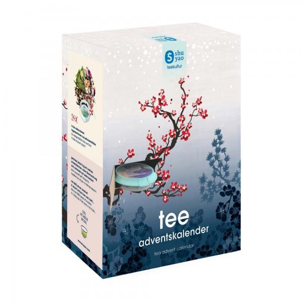 shuyao tea adventscalendar - adventstee mit teebereiter und tee in tagesdosen recyclebar