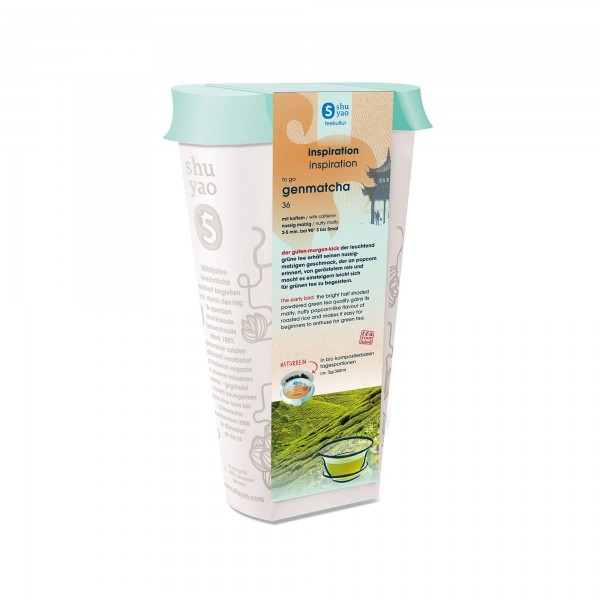 36. genmatcha tee in recyclebarer dose