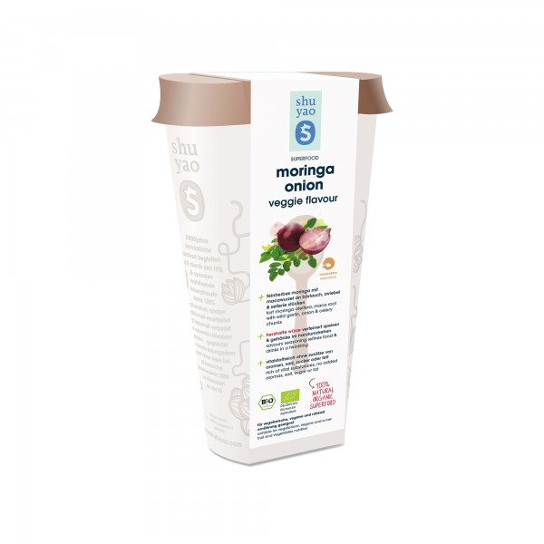 180. moringa onion veggie flavour bio superfood in recyclebarer dose