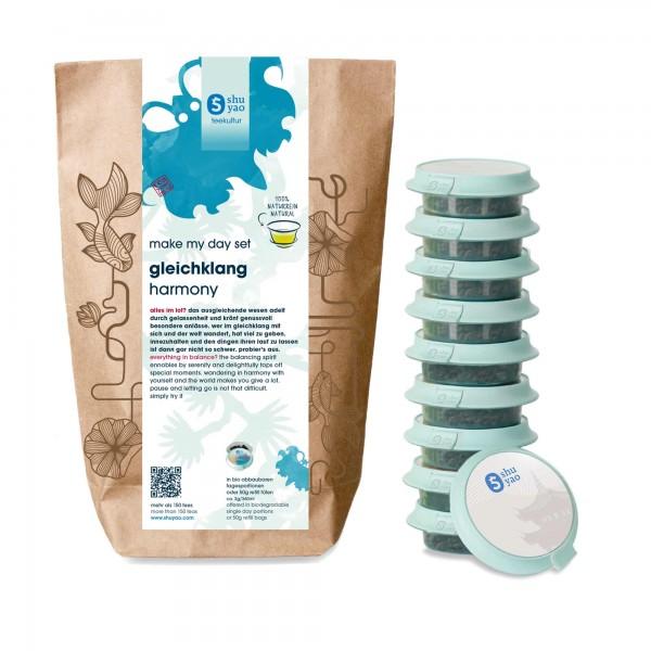shuyao harmony tea set- tee in probiertuete mit tee in tagesdosen recyclebar