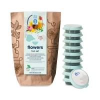 shuyao flowers tee set- blütentee in probiertuete mit tee in tagesdosen recyclebar
