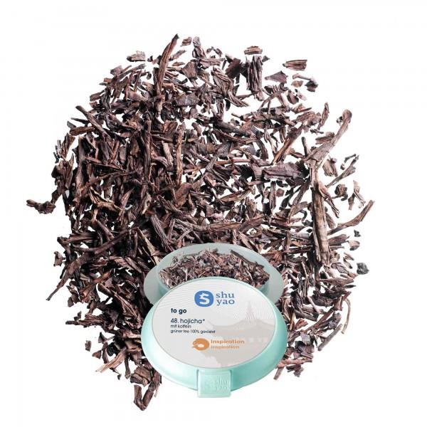 48. hojicha tee in tagesdose einzeln recyclebar