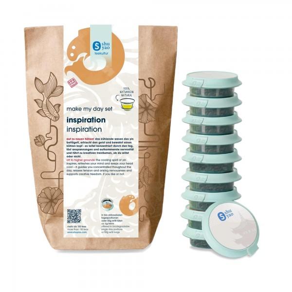 shuyao inspiration tea set- tee in probiertuete mit tee in tagesdosen recyclebar