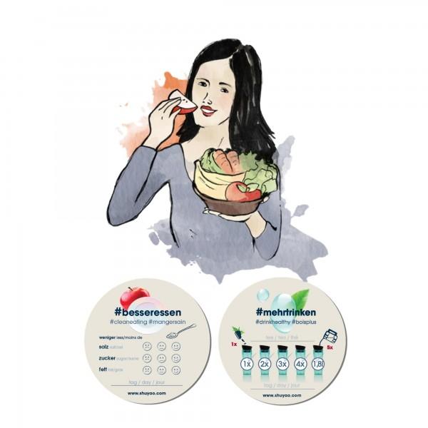 shuyao #mehrtrinken & #besseressen protokoll - trink- und essprotokoll im doppelpack