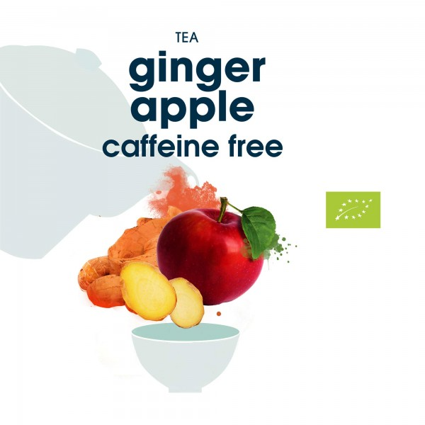 113. ginger apple bio tee in blattqualität