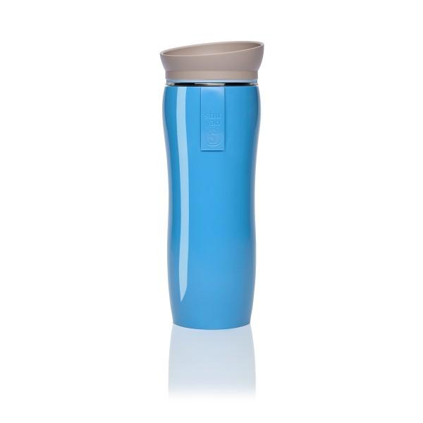 blue glossy | blue | taupe tea maker