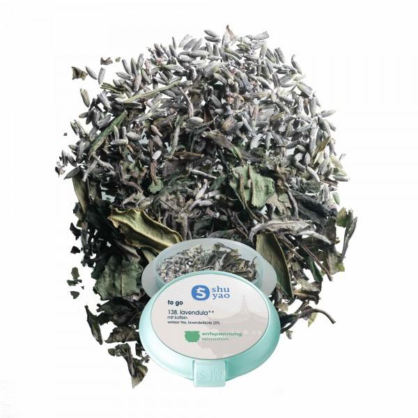138. lavendula  tee in tagesdose einzeln recyclebar