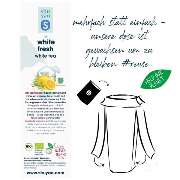 white fresh sticker