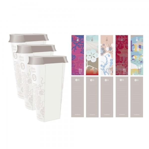 asia refill caddy set - 3 recyclebare vorratsdosen inklusive aufkleber