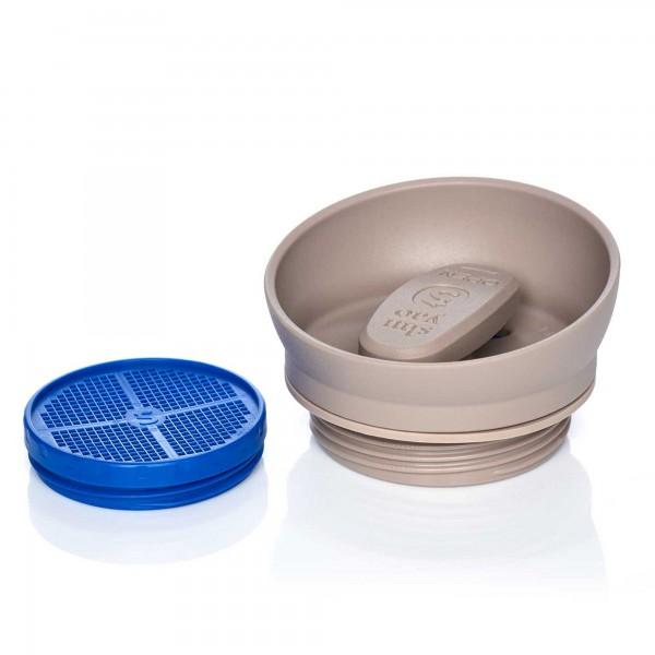 shuyao taupe lid tea maker - drehdeckel mit sieb für teebereiter made in germany