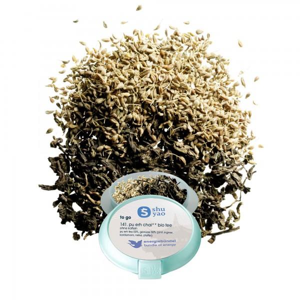 141. pu erh chai bio tee in recyclebarer dose