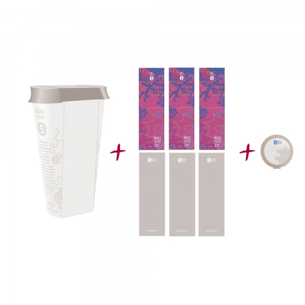 pink asia refill caddy - recyclebare refill dose inklusive 3 aufkleber
