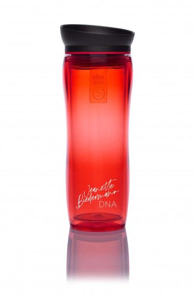 jeanette biedermann tea maker - in ihrer lieblingsfarbe rot und mit unterschrift
