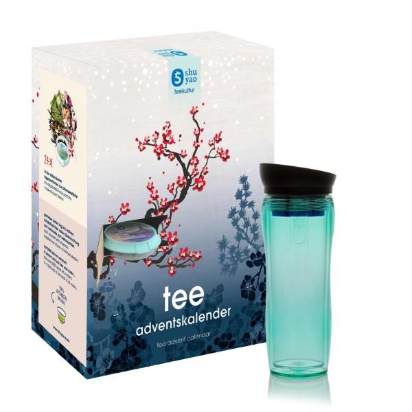 shuyao tea advent calendar to go - 24x adventstee in naturreiner blattqualität mit teamaker