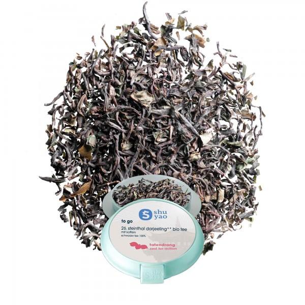 26. steinthal bio darjeeling tee in tagesdose einzeln recyclebar